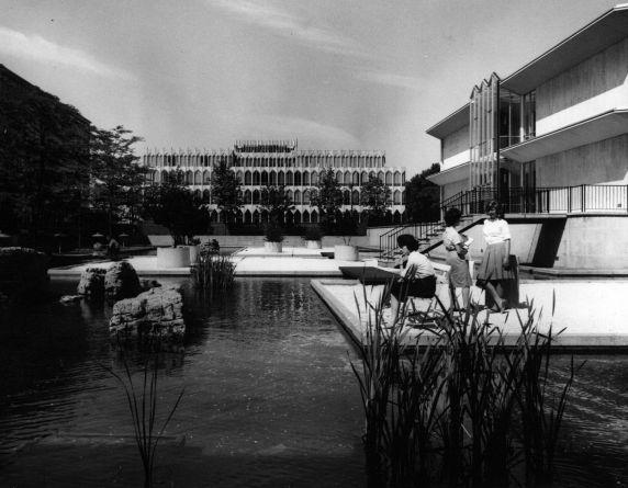 (25943) Buildings, McGregor Memorial, Gardens, 1960s