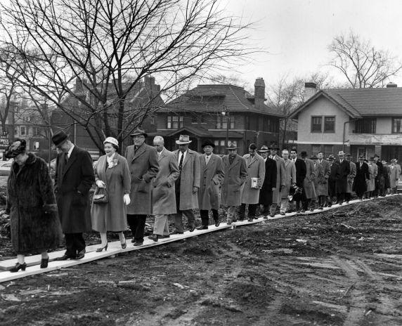 (25953) Buildings, McGregor Memorial, Groundbreaking, 1956