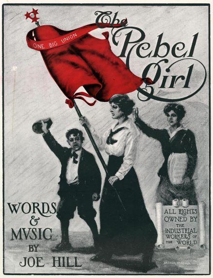 """(26677) Elizabeth Gurley Flynn, """"The Rebel Girl,"""" Illustration"""