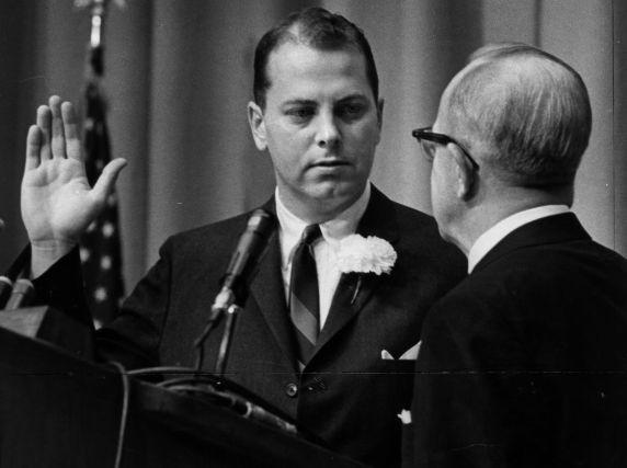 (26882) Cavanagh, Oath of Office, Detroit, 1962