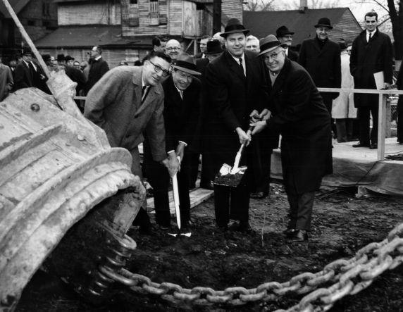 (27168) Cavanagh, Wayne State University, Groundbreaking, 1962