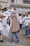(27268) AFSCME CSEA and Mr. Peanut protest Pataki