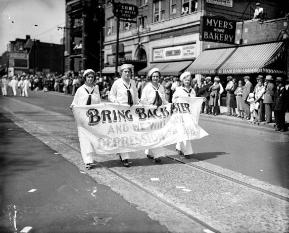 "(27863) Prohibition, Demonstrations, ""Beer Parade,"" 1932"
