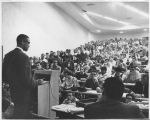 (27991) Nation of Islam, Malcolm X, Meetings, Wayne State, 1963