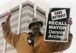 (28049) Demonstrations, Recall Campaigns, Mayor Dennis Archer, Detroit, 1998