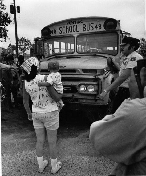 (2820) Demonstrations, Segregation, Busing, Pontiac, Michigan, 1971