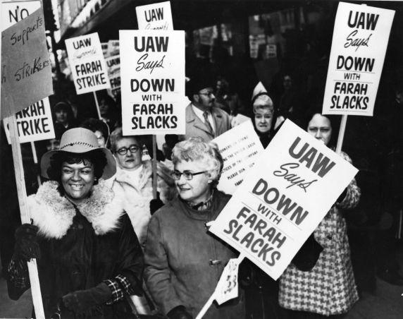 (28204) Olga Madar, UAW Farah boycott, Hudson's