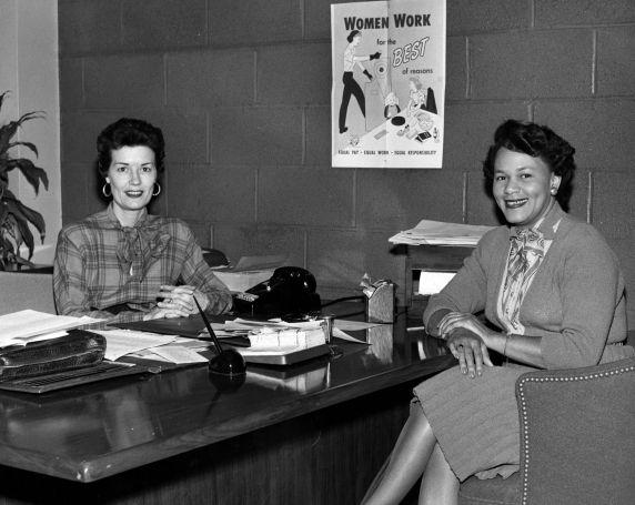(28208) Caroline Davis, Lillian Hatcher, UAW Women's Department