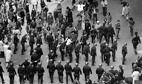 (2822) Demonstrations, Vietnam War, Police, Detroit, 1972