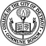 (28393), College seal, College of the City of Detroit, Detroit, Michigan, 1925.