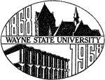 (28398), centennial logo, Wayne State University, Detroit, Michigan, 1968.