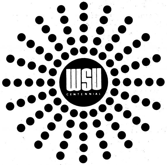 (28399), Centennial logo, Wayne State University, Detroit, Michigan, 1968.
