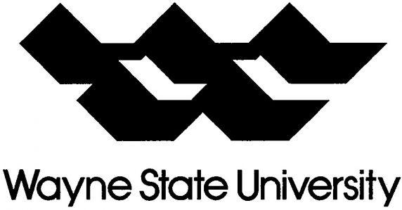 (28401) University logo and wordmark, Wayne State University, Detroit, Michigan, 1982.
