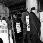 (28406) New York City Welfare Centers picket