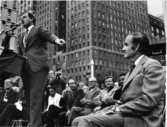 (28559) Politics, George McGovern, Ted Kennedy, Detroit, 1972