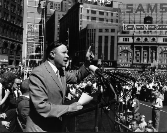 (28581) Walter Reuther Labor Day, Cadillac Square, 1960