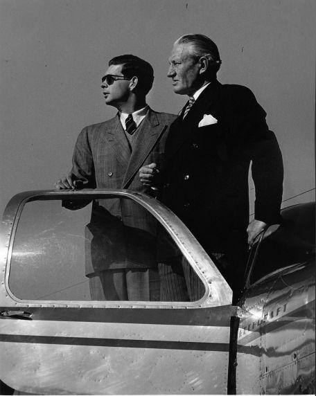 (28616) King Michael, Governor Kim Sigler, City Airport, Detroit, 1948