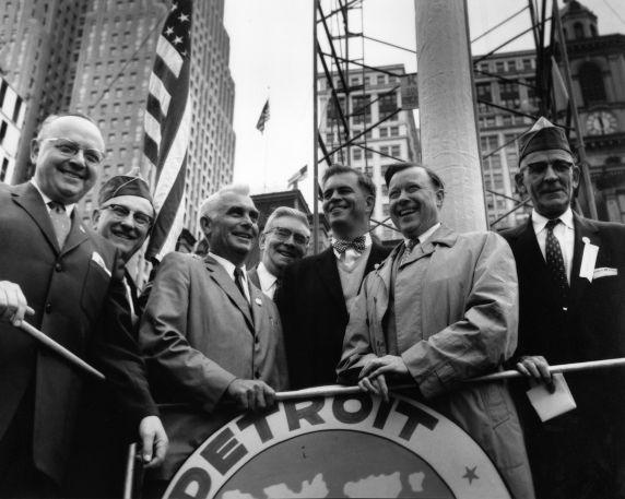 (28662) Governor Williams, Reuther, McNamara, Miriani, Labor Day, 1958