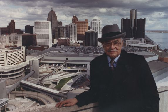 (28672) Mayor Young, Downtown Detroit, Skyline, 1991