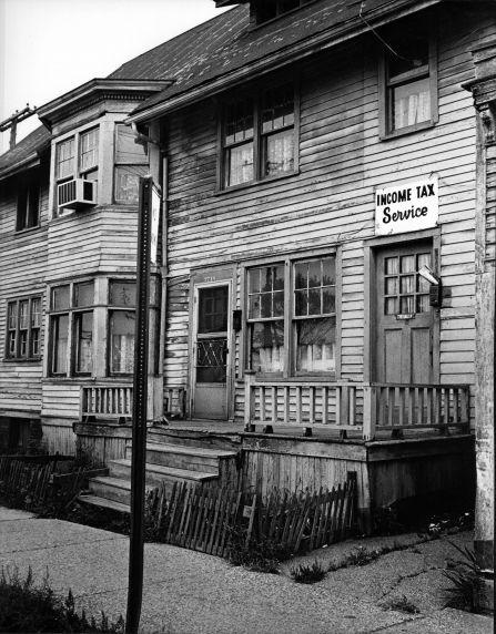 (2871) Slums, Streets, St. Aubin Area, Detroit, Michigan, 1965