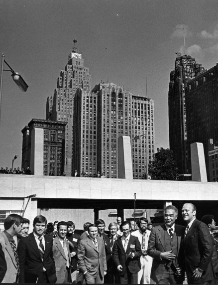 (28817) Presidents, Gerald Ford, Coleman Young, Detroit, 1974