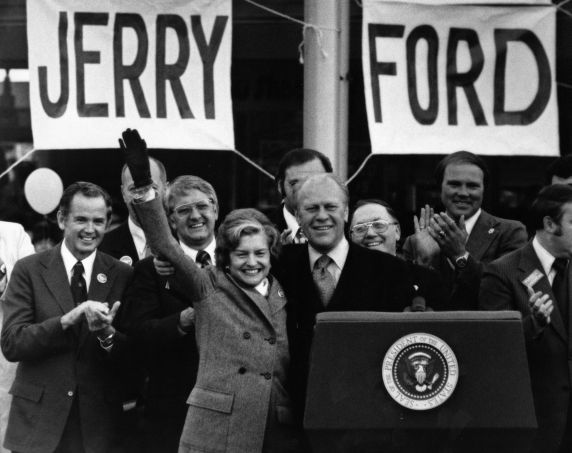 (28819) Presidents, Campaigns, Gerald Ford, Livonia, 1976