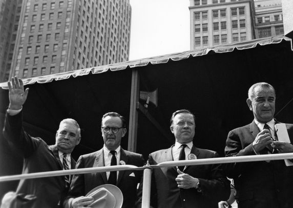 (28834) Presidents, Lyndon Johnson, Walter Reuther, Labor Day, 1964