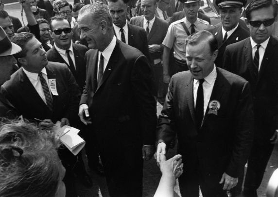 (28835) Presidents, Lyndon Johnson, Walter Reuther, Labor Day, 1964