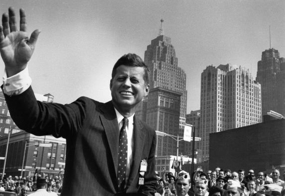 (28844) Political Campaigns, John Kennedy, Detroit, 1960