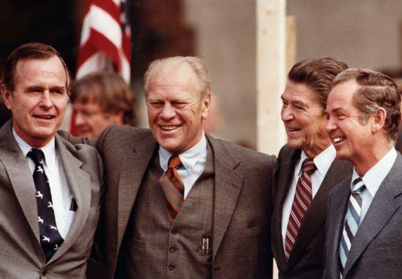 (28869) Presidents, Ronald Regan, Jerry Ford, George H.W. Bush, Birmingham, 1980
