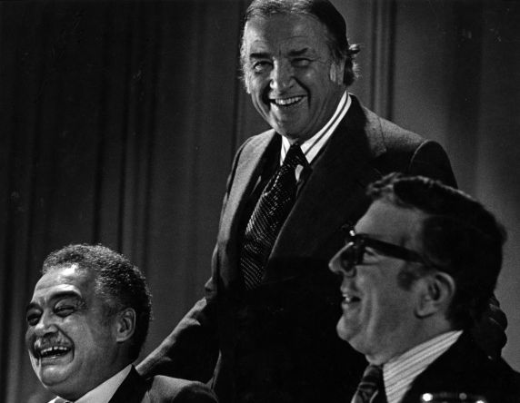 (28883) Coleman Young, Henry Ford II, Leonard Woodcock, 1970s