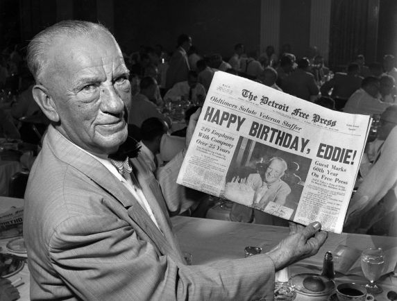 (29116) Edgar Guest, Detroit Free Press, 1955