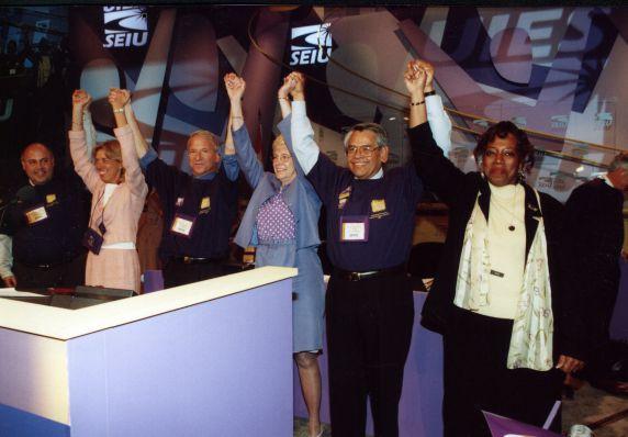 (29204) Andy Stern, Anna Burger, Eliseo Medina, International Convention, Pittsburgh, Pennsylvania, 2000