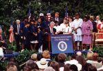(29208) President Bill Clinton signs Minimum Wage Bill, Washington D.C., 1996