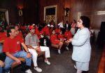 (29210) Pennsylvania Local Members visit Congressperson Santorum, Minimum Wage Rally, Washington, D.C, 1996