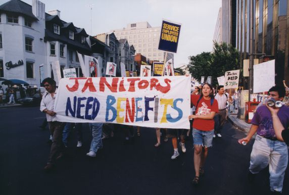 (29211) Local 82, Justice for Janitors Day Demonstration, Washington D.C., 1996