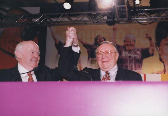 (29216) John Sweeney, Richard Cordtz, SEIU 21st International Convention, Chicago, Illinois, 1996