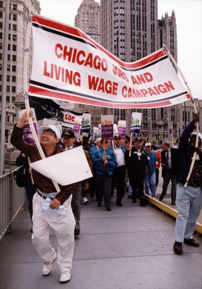 (29220) Living Wage Demonstration, Convention, Chicago, Illinois, 1996