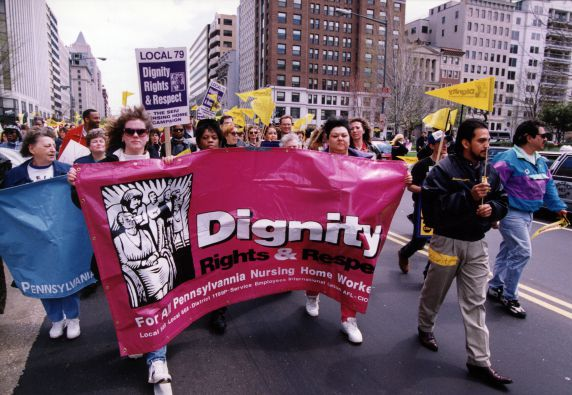 (29222) Local 79, Dignity Beverly Demonstration, Washington, D.C. and Leesburg, Pennsylvania, 1996