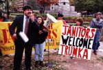 (29224) Richard Trumka and other demonstrators, Local 82, Justice for Janitors Demonstration, Washington, D.C., 1995