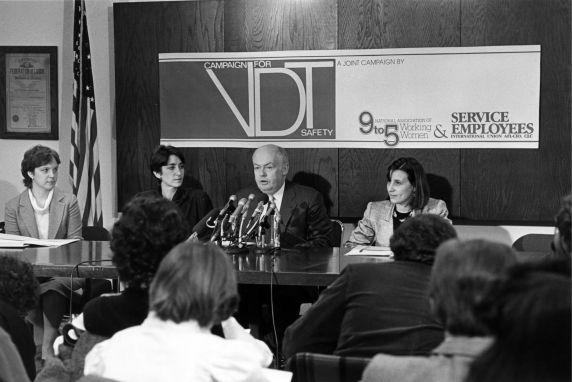 (29236) John Sweeney, 9 to 5, Video Display Terminal (VDT) Press Conference, Washington, D.C., 1984