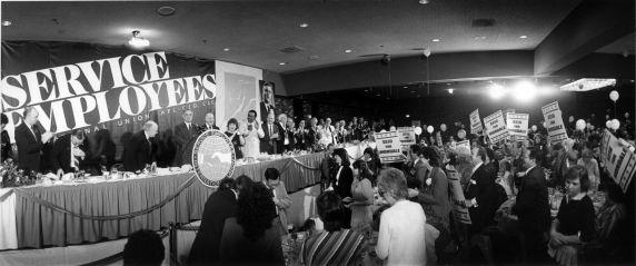 (29240) Walter Mondale, George Hardy, SEIU 18th Annual Convention, Dearborn, Michigan, 1984
