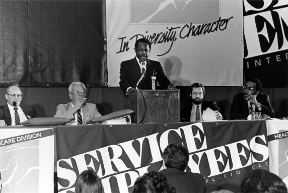 (29246) Henry Nicholas, SEIU 18th Annual Convention, Dearborn, Michigan, 1984