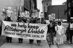 (29250) Local 29 Members Demonstrate, Pittburgh Lockout, Pittsburgh, Pennsylvania, 1985