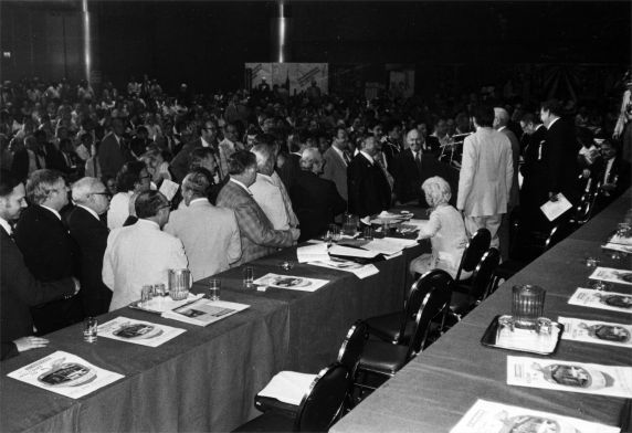 (29264) Richard Cordtz, John Sweeney, and other attendees, SEIU 17th International Convention, New York, New York, 1980