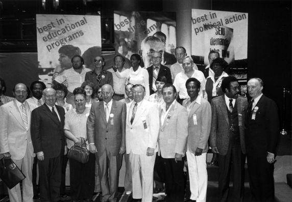 (29271) John Sweeney, George Hardy, Richard Cordtz, SEIU 17th International Convention, New York, New York, 1980