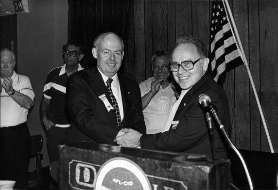 (29283) John Sweeney, Leon Sverdlove, International Jewelry Workers Union Convention and SEIU Merger, 1980