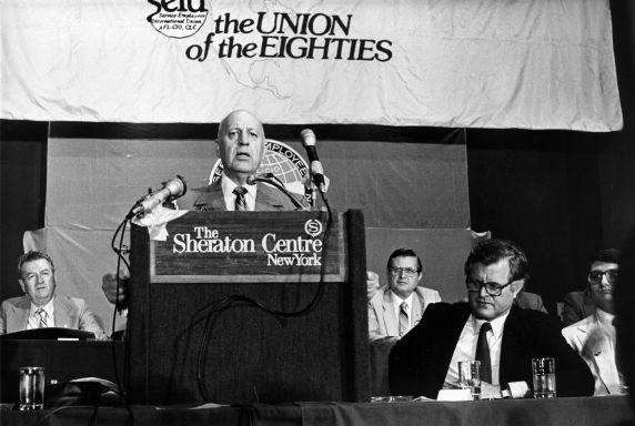 (29293) George Hardy, Edward Kennedy, 17th International SEIU Convention, New York, New York, 1980