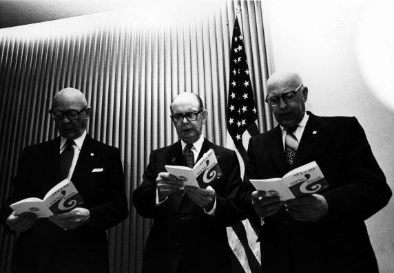 (29353) George Fairchild, David Sullivan, George Hardy, Convention, San Francisco, California, 1972
