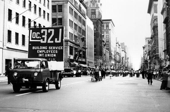 (29367) Local 32J, Labor Day Parade, New York City, 1960
